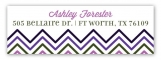 Chevron And Dot Radiant Orchid Address Label