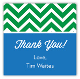 Chevron Blue Green Square Sticker