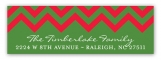Chevron Christmas Scallop Address Label