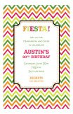Chevron Fiesta Invitation