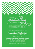 Chevron Green Invitation