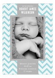 Chevron Greeting Boy Photo Card