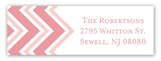 Chevron Greeting Girl Address Label