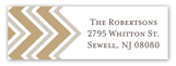 Chevron Greeting Tan Address Label
