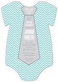 Chevron Necktie Onesie Invitation