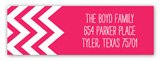 Chevron Pink Address Label
