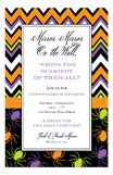 Chevron Spiders Invitation