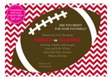 Chevron Tailgate Invitation
