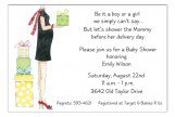 Chic Mom Yellow Invitation