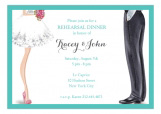 Chic Wedding Couple Invitation