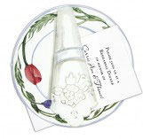 China Plate with Tulips Invitation
