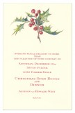 Chinese Holly Invitation