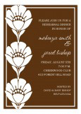 Chocolate Brown Flower Trio Invitation