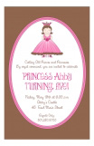 Chocolate Princess Invitation
