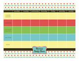 Chore List Calendar Pad