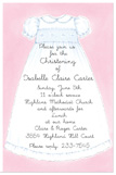 Christening Dress Invitation