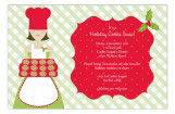 Christmas Baker Invitation