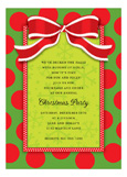 Christmas Bow Invitation