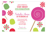 Christmas Candyland Invitation