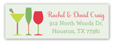 Christmas Cocktails Address Label
