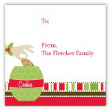 Christmas Cookie Jar Square Sticker