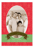 Christmas Damask Photo Card