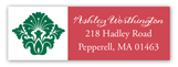 Christmas Flourish Address Label