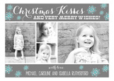 Christmas Kisses Collage Photo Card