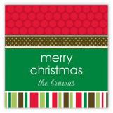 Christmas Memories Traditional Square Sticker