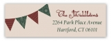 Christmas Pennant Flag Address Label