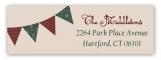 Christmas Pennant Flag Address Label