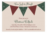 Christmas Pennant Flag Invitation