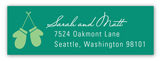 Christmas Pine Address Label