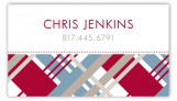 Christmas Plaid Calling Card