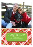 Christmas Plaid Photo Card