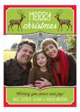 Christmas Reindeer Photo Card