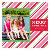 Christmas Stripes Photo Card