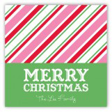 Christmas Stripes Square Sticker