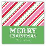 Christmas Stripes Square Sticker