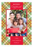 Christmas Tartan Photo Card