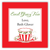 Christmas Tea Square Sticker