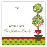 Christmas Topiary Gift Tag