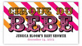 Cirque Du Bebe Girl Pink and Orange Gift Tag