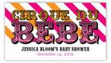 Cirque Du Bebe Girl Pink and Orange Gift Tag