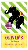Elephant Cirque Du Bebe Neutral Rectangular Gift Tag