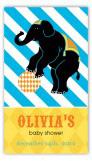 Elephant Cirque du Bebe Rectangular Gift Tag
