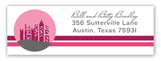 Cityscape Greetings Address Label