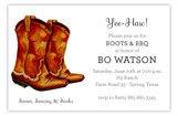 Classic Cowboy Boot Invitation