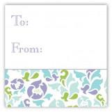 Classy Floral Square Sticker