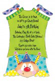 Clown Die-cut Invitation